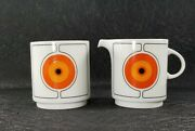 Vintage Eclipse By Thomas Rosenthal Creamer And Lidded Sugar Bowl Germany