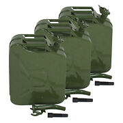 3x Jerry Can Gas Gasoline Fuel Army Army Backup Tank 5 Gallon 20l Metal Steel