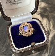 Antique Victorian Opal Ring, Georgian Style 12ct Gold With Antique Box. Ukf