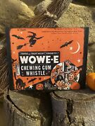 Vintage Victorian Style Halloween Candy Wowe Gum Advertising Canvas Sign