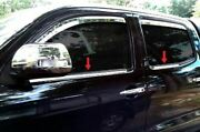 Fit2005-2015 Toyota Tacoma Double/crew Cab Window Sill Trim Stainless Overlay