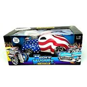 Muscle Machines And03941 Willys Coupe American Flag Real Steel Fuel Line 118 Diecast