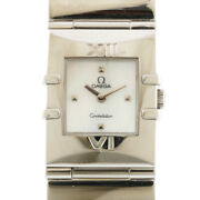Omega Watches Silver White Shell Stainless Steel Constellation Carre From Japan