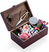 Wooden Sewing Kits Sewing Boxes And Baskets With Sewing Accessories Kit, Good Fo
