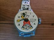 Antique 1933 Ingersoll Mickey Mouse Watch Original Disney Character Rare