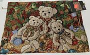 Set Of 2 Tapestry Placemats13x193 Teddy Bearsnutcracker And Christmas Treevl