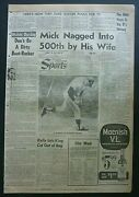 Rare Lot Of 40 Mickey Mantle Yankees Vintage 1960's Sports Sections Newspapers