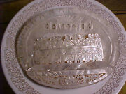 Vintage Large Mop Mother Of Pearl Religious Cameo Icon Of The Last Supper