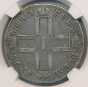Russia Paul I Rouble 1799 Cm Mb Ngc Vf25