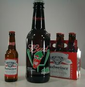 Budweiser Chili's Pitcher 15 Glass Beer Bottle 64 Oz