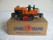 Vintage Lionel Trains O/o-27 Scale Motorized Section Gang Car W/ Box 50 Vg