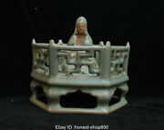 Old Chinese Antique Long Quan Official Kiln Porcelain Buddhist Altar Statue