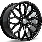 4 22 Staggered Ace Alloy Wheels Aff03 Gloss Piano Black Rimsb44
