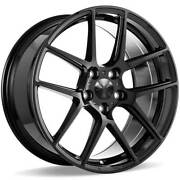 4 19/20 Staggered Ace Alloy Wheels Aff02 Gloss Piano Black Rimsb44