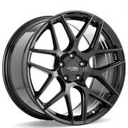 4 19 Staggered Ace Alloy Wheels Aff11 Gloss Piano Black Rimsb44