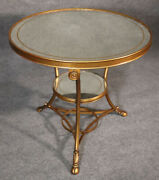 Gilded Eglomise Silver Leafed Mirrored Gilded French Directoire Center Table