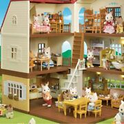 Sylvanian Families Girl Play Doll House Toy Sweet Dream Cabin With Furniture