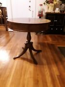 Antique 27 Round Drum Table With Drawers