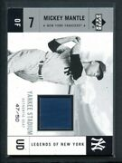 2001 Upper Deck Legends Of Ny Stadium Blue Ysmm Mickey Mantle Numbered D/50