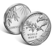 End Of World War Ii 75th Anniversary Silver Medal Ready To Ship