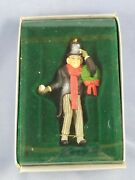Enesco Bah, Humbug Ornament 553387 Scrooge With Wreath Guc In Box
