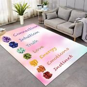 Pink Love Quote Peace Truth Energy Rectangle Rug Carpet Mat Living Room Bedroom