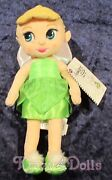 Disney Animators' Tinker Bell Fairy Toddler Plush Doll New With Tags