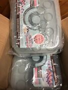 Lot Of 2 Sweet Creations 18 Cupcake/cake Carrier Blue Clear Plastic New