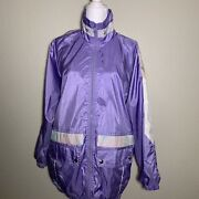 Vintage Climate Zone Purple Windbreaker Jacket Long In Length And Size Small