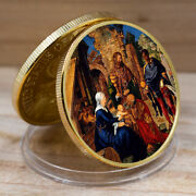 Jesus Commemorative Coin Collection Art Plated Christian Us Challenge Gold Coins
