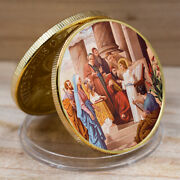 Jesus Commemorative Coin Collection Art Christian Us Challenge Gold Coins