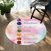 Pink Love Quote Truth Energy Peace Round Rug Carpet Mat Living Room Bedroom