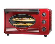 Nostalgia Large-capacity 0.7-cu. Ft Retro Red Convection Toaster Oven