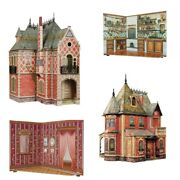 Cardboard Models And Toy Clever Paper Umbum Doll House And Roomboxes 3d 4-1