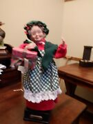1994 Holiday Creations 16 Musical Animated Mrs. Claus Figure Christmas Figure