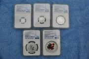 2020 Canada 1-5 Maple Leaf Fractional Set Ngc First Releases Rev Pf 70