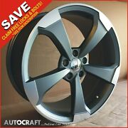 18 Rs3 Gm Style Alloy Wheels + Tyres Fits - Audi A3 A4 A6 Tt Pcd 5x112