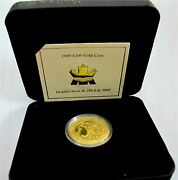 1999 Canada 200 Dollars Gold Coin 1/2 Oz Butterfly The Miand039 Kmaw Proof