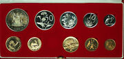 1983 South Africa 10 Coin Proof Set W/ Gold And Silver Rands In Mint Box