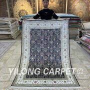 Yilong 4.5and039x6.5and039 Handknotted Silk Area Rug All-over Oriental Home Carpet H319b