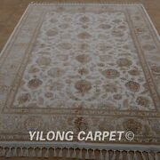 Yilong 5.5and039x8and039 Handmade Wool/silk Rug Top Quality Kid Friendly Home Carpet 1906