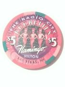 Flamingo Hilton Casino Las Vegas Rockettes 5.00 Chip Great For Any Collection