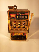 Vintage Japanese Toy 25 Cent Slot Machine Working Condition