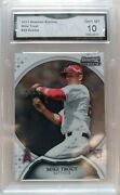 2011 Bowman Sterling 22 Mike Trout Rookie Card Gma Graded 10