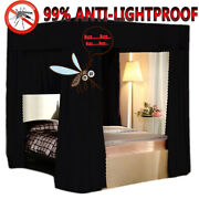 New 99 Anti-glar Lightproof Mosquito-proof Bed Canopy Mosquito Net Curtain+post
