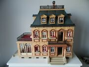 Vintage Playmobil 5300 Victorian Mansion House With Lots Of Furniture + Extras