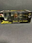 Hot Wheels 1/25 Honda Civic Coupe With Figure Fast And The Furious Usdm Jdm