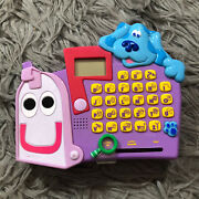 Blues Clues Mailbox Toy Learning Play Sounds Works Purple Letters 2000 Vintage