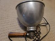 Vintage Industrial Work Shop Lamp Edison Steampunk Wood Wappler Electric Co Ny