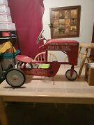 Antique Metal Amf E-507 Pedal Tractor Power Trac Chain Driven